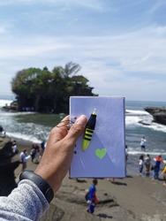 A small diary snapshot with a beautiful sea named Tanah Lot, Bali