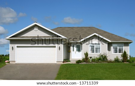 A small family home with garage.