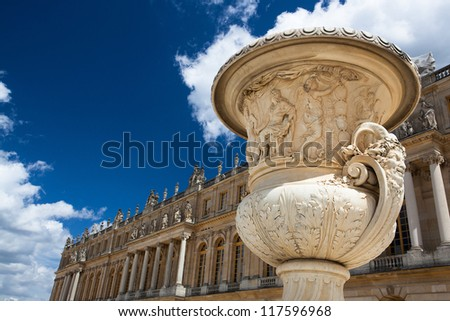 A small part of the Versailles Chateau in France