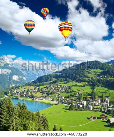 a small swiss village near the...