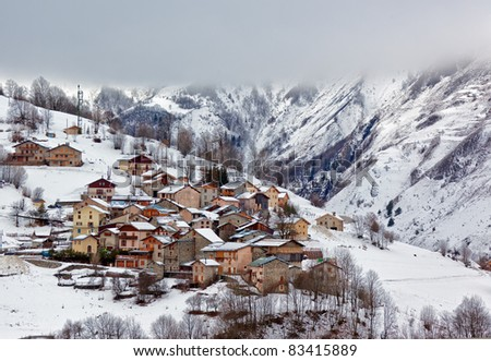 A small town in the French alps