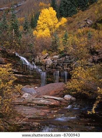 A small waterfall in the San Juan National Forest, Colorado.