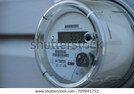 A smart electric power meter measuring power usage