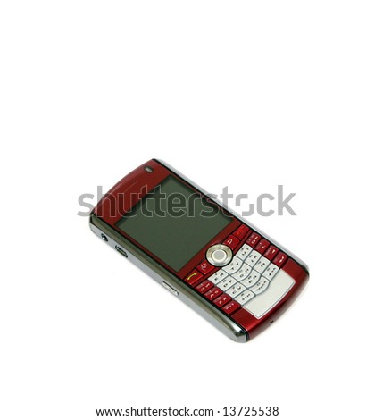"A ""smart phone"" type cell phone against a white background. - stock photo"
