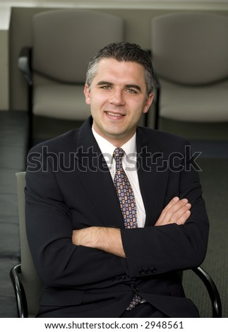 A smiling business man