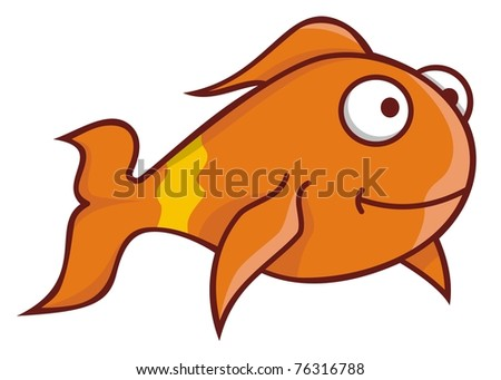 goldfish cartoon pictures. small gold fish cartoon