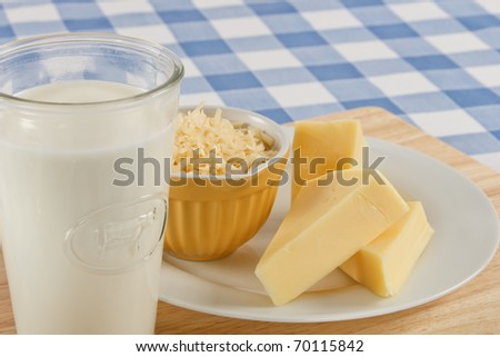 A snack of tasty Swiss cheese and a glass of milk can be a dangerous food allergen for many people.
