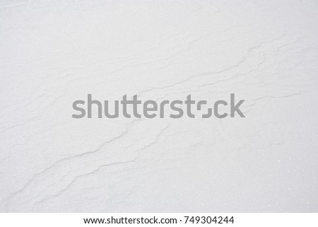 A snow background with slight contours in Austria. #749304244