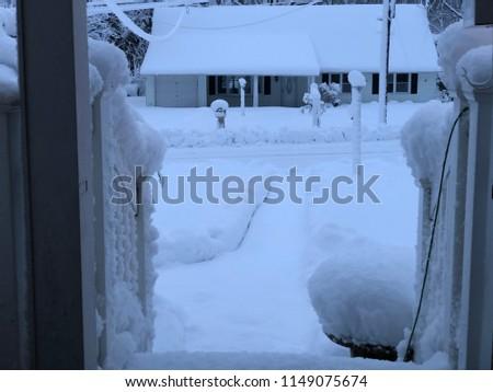 A snowy day #1149075674