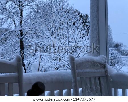 A snowy day #1149075677