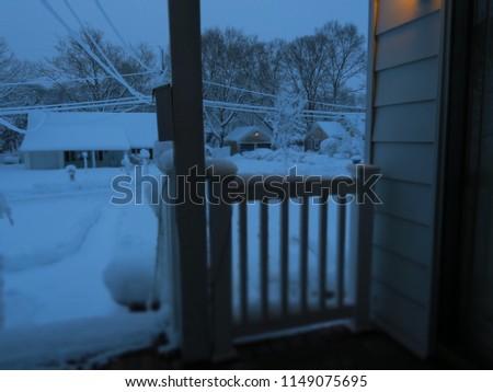 A snowy day #1149075695