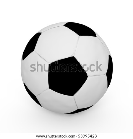 A soccer ball isolated - a 3d image