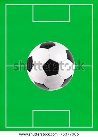 A soccer pitch illustration