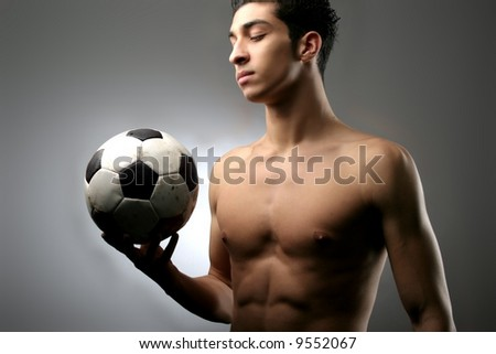 a soccer player with a ball