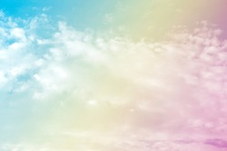 A soft fog cloud background white a pastel colored orange to blue gradient