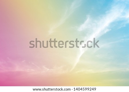 A soft fog cloud background with pastel colored orange to blue gradient #1404599249