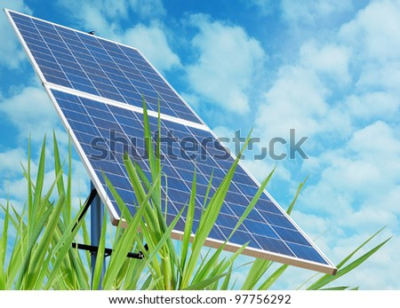 A solar station in green environment