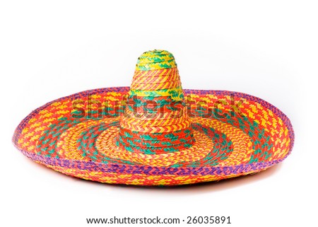 a sombrero isolated on a white background
