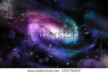 A space of the galaxy ,atmosphere with stars at dark background.