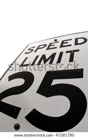 A speed limit sign showing the speed, 25