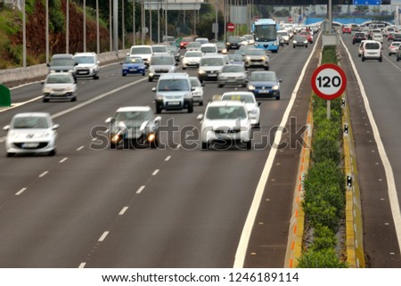 A speed signal in the highway #1246189114