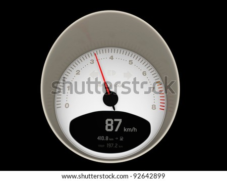 A Speedometer Of A Fast Car Indicating Medium Velocity ...