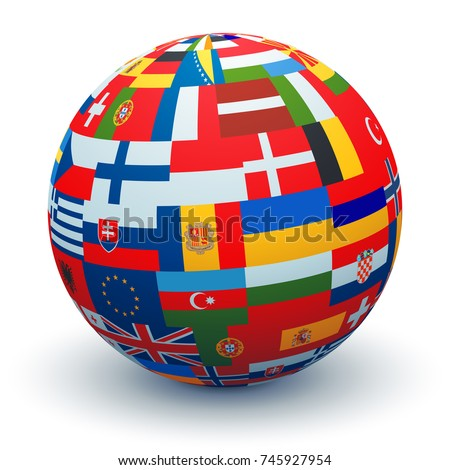Royalty free flags globe vector sphere with flags 119419429 stock a sphere made from combining different european flags 745927954 freerunsca Image collections