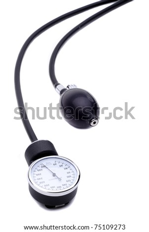 A Sphygmomanometer Blood Pressure Meter Isolated On A White Background