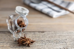 A spice commonly called star anise, staranise, star anise seed, Chinese star anise, badian that closely resembles anise in flavor.