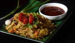 A spicy one-dish vegetarian dinner with curry flavors. Vegetable kottu roti is a traditional Sri Lankan street food.