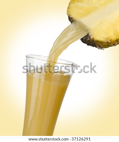 A splash of ananas juice