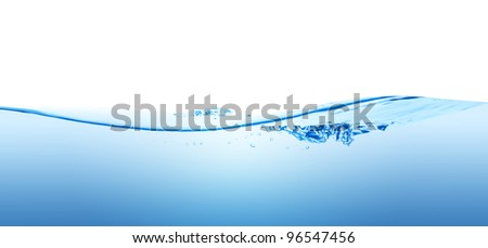 A splash of pure water wave, isolated on the white background.