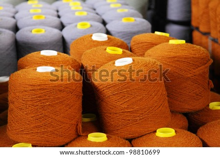a spool of thread on the factory