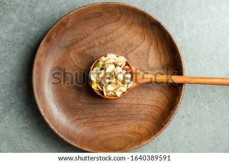 A spoonful of nutritious cereal
