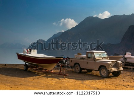A spot in Musandam, Kasab -Oman where fishing and boating is an activity  that is enjoyed by the tourists. #1122017510