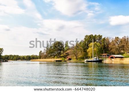 A spring day in Stockholm archipelago #664748020