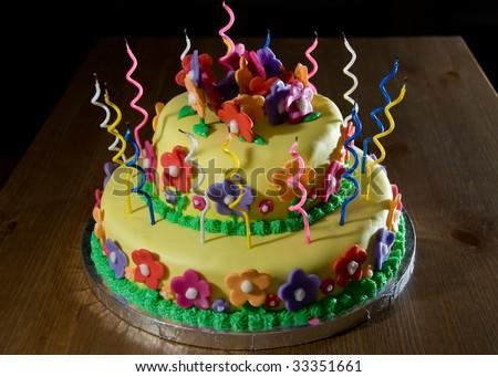 colorfull decorated fondant cakes