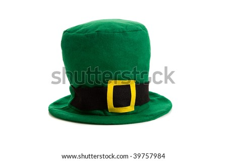 A St. Patrick's day costume hat of a leprechaun