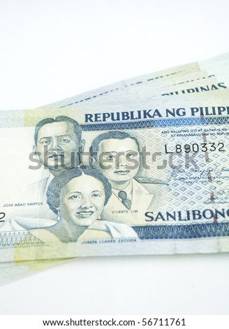 a stack of one thousands peso of philippines banknote, money.