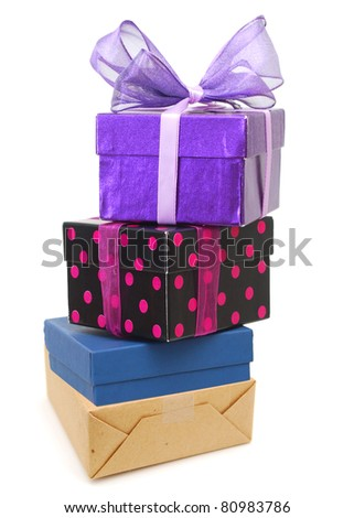 A stacking gift pile