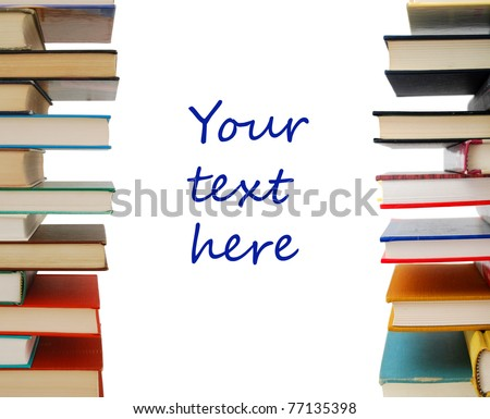 A stacking textbooks on decor