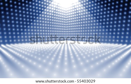 a stage lights background - stock photo