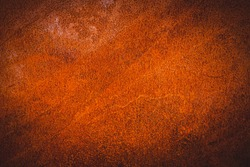 A stainless steel background. Brown metal rust. Rusty Metal Surface Texure Background.