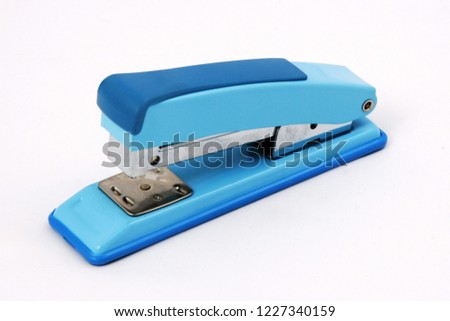 a stapler on a white background