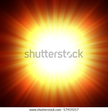 A star burst or lens flare over a black background. It also looks like an abstract illustration of the sun.