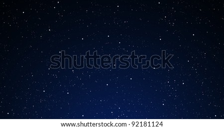 A starry night sky. - stock photo