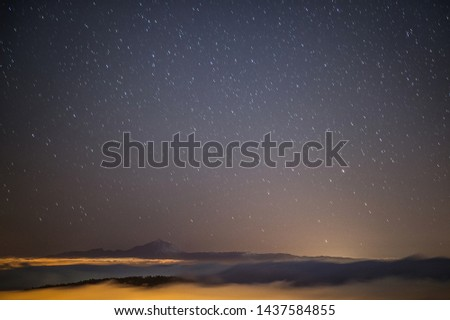 a starry night with views towards the island of Tenerife #1437584855