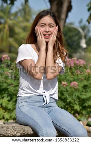 A Startled Youthful Female #1356833222