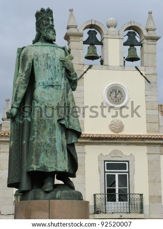 A statue of Don Pedro in Cascais in Portugal