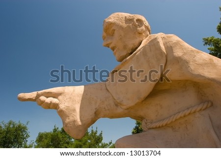 A statue of Franciscan Father Junipero Serra - stock photo